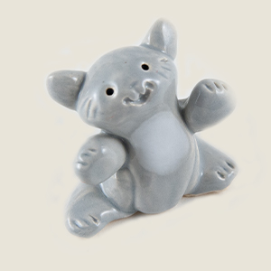 Gray Cat Collectible Figurine