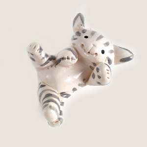 Tummy Tabby Cat Collectible Figurine