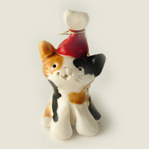 Santa Cat Collectible Figurine