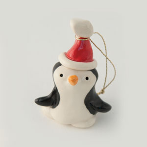 Santa Penguin Collectible Figurine
